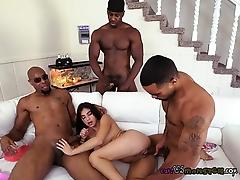 Maid Michelle Martinez Gets Drilled By Black Bosses