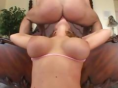 Big titties bounce and jiggle as the redhead gets plowed hard porn tube video