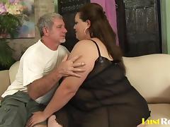 BBW Angelina has her way of pleasing men