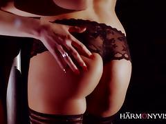Sexy Lesbian threesome strip show tube porn video