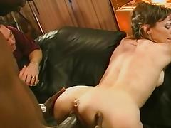 Brunette gets her ass slammed
