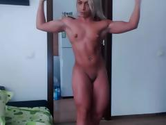 Muscular Blonde Flex porn tube video