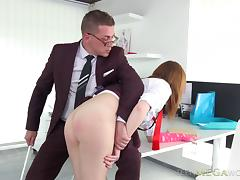 It's time to teach her a lesson and penetrate her sweet beaver!