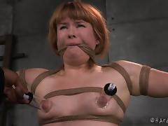 Poor Claire Robbins has never been in such a rough bondage session porn tube video
