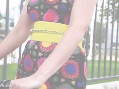 Jeny Smith -Yellow heels public naked porn tube video