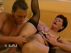 Mom and Boy, Granny, Hairy, Mature, Old, Sex