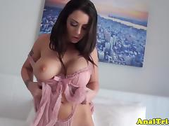 Busty amateur girlfriend assfucked