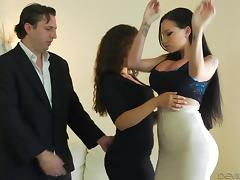 Unforgettable group sex with two babes who know how to ride the dick