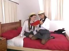 Sasha and Vicki schoolgirl lesbians
