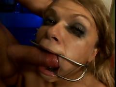 Sexy blonde slurps two dicks and a dildo porn tube video