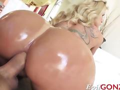 Blonde milf Ryan Conner takes massive cock in her asshole porn tube video