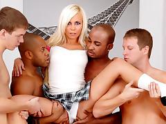 Sarah Lewis in University Gangbang #07 , Scene #02 porn tube video
