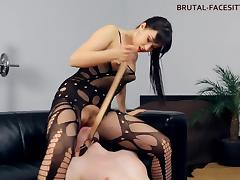 Nothing can please this Russian dominatrix like the face sitting!