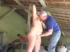 Bondage, Bondage, Saggy Tits, Slave