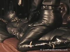 The Leather Domina - Leather Fetish - Total Leather Bondage porn tube video