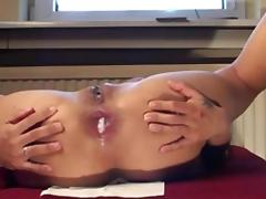 Anal Tight creampie with asian