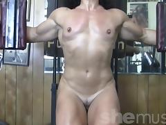 Annie Rivieccio Nude in the Gym porn tube video