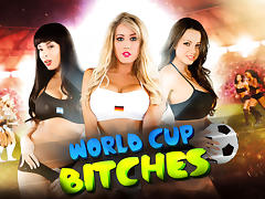 Anissa Kate, Capri Cavanni, Jamie Stone & Ryan Driller  in World Cup Bitches porn tube video