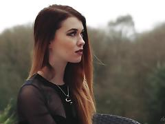 Pale Misha Cross lets the tattooed guy explore her inner depths
