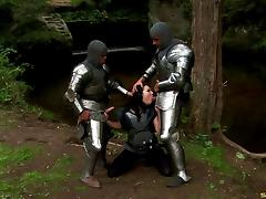 Knights with big cocks are here to give her the double penetration