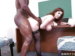 Huge black dick slides deep into Sara Jay