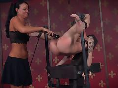 Skinny kinkster craves the pain her mistress gives her