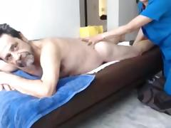 Grandpa has a massage and than stroke and cum porn tube video