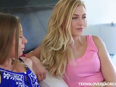 Two pale cuties are finally getting blacked like they always wanted!