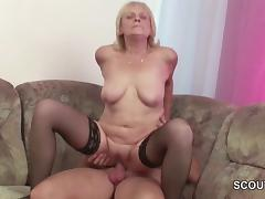 Frank 18yr old Seduce Granny to Get His First Fuck tube porn video