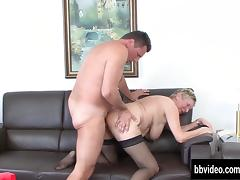 Busty german granny eats dick