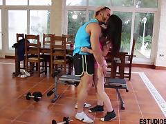 Spanish Teen fucks her fitness coach