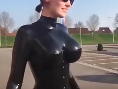 Bouncing tits catsuit tube porn video