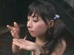 Yuka Osawa is a dirty dame who savors some sticky cum shots tube porn video
