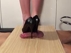 Trampling pins on the penis and ejaculation full