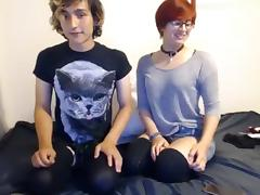 Webcam, Couple, Redhead, Webcam, French Teen