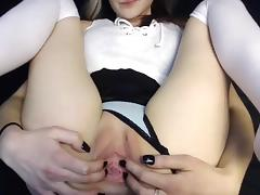 british cam-slut shows her big hole