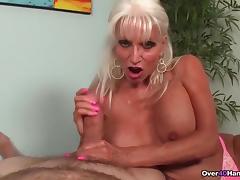 Granny loves jerking cocks porn tube video