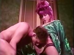 Vintage tart trans and her man porn tube video