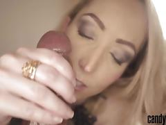 Candy May - Sensual handjob and tongue job