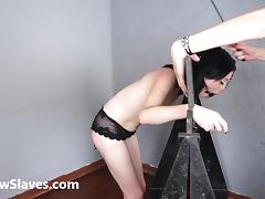 Merciless brazilian bdsm and lesbian whipping of 19yo amateur ### girl Demi in hardcore female domination and spanking tube porn video
