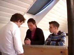 Three twinks in a bar