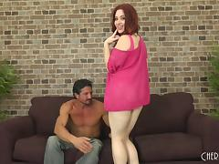 Pale redhead called Jessica Ryan and the cock of her exotic lover porn tube video