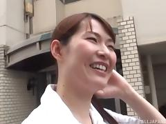 Beautiful Japanese nurse decides to passionately please herself