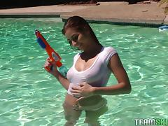 Nina is one of those perfect girl who love getting shagged by the pool porn tube video