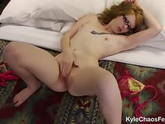 Horny and Lonely Redhead Jilling Off at Hotel