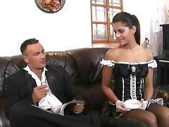 She's the most arousing maid ever and she'd like to have anal sex