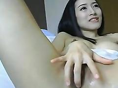 Asian Chick Toys her Pussy and gets Huge Orgams