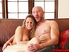 Busty workout slut dominated with doggystyle