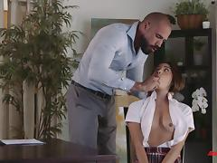 Hottest schoolgirl Zaya Cassidy and the long-awaited doggy ramming porn tube video