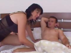 Old   junior - stepmom wakes stepson for early morning fuck tube porn video